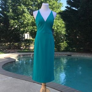 Donna Morgan NWT Size 6 Teal Midi Dress